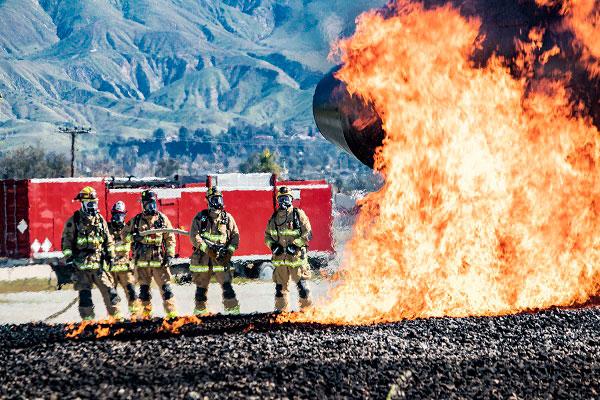 ADOT Grand Canyon Airport Firefighters training at San Bernadino Regional Emergency Training Center