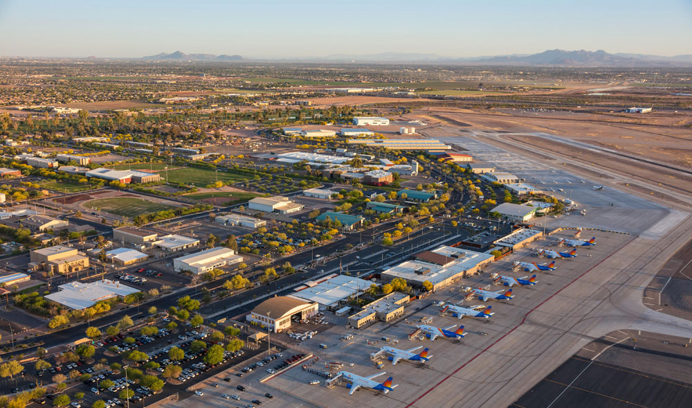 Aerial View: Phoenix-Mesa Gateway Airport