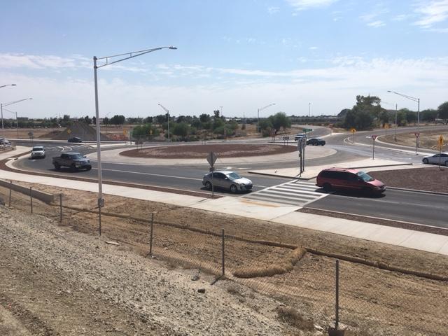 Freeway Interchange roundabout at Giss Parkway, Yuma