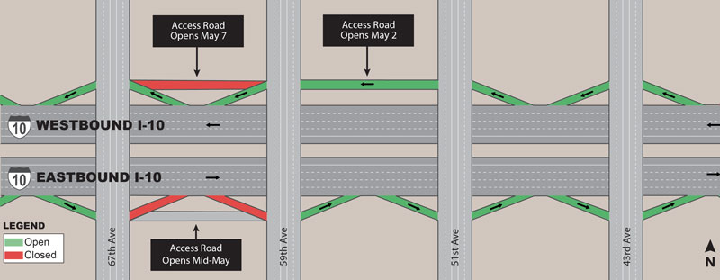 South Mountain Project - 1-10 Access Road Map - April 30, 2018