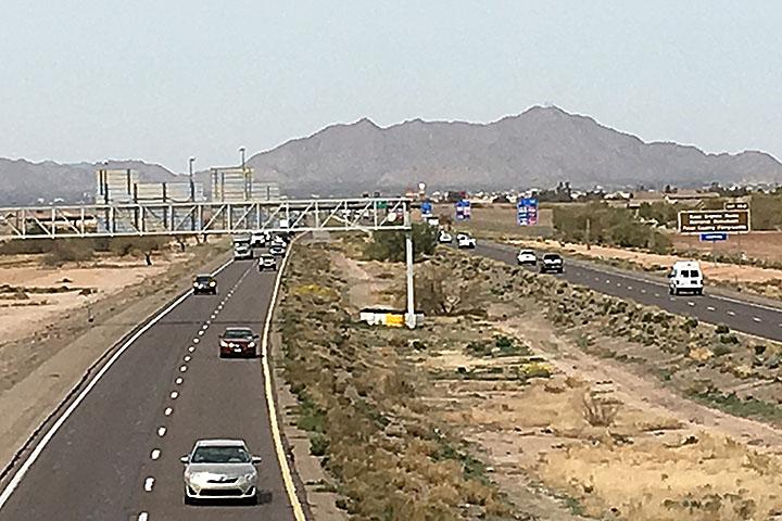 I-10 near Casa Grande prior to project to widen
