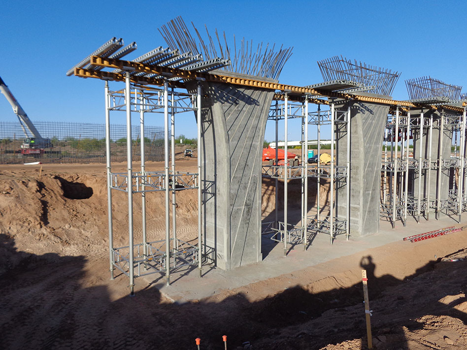 SR  87 Pier Construction for I-10 Eloy Widening - May 2018