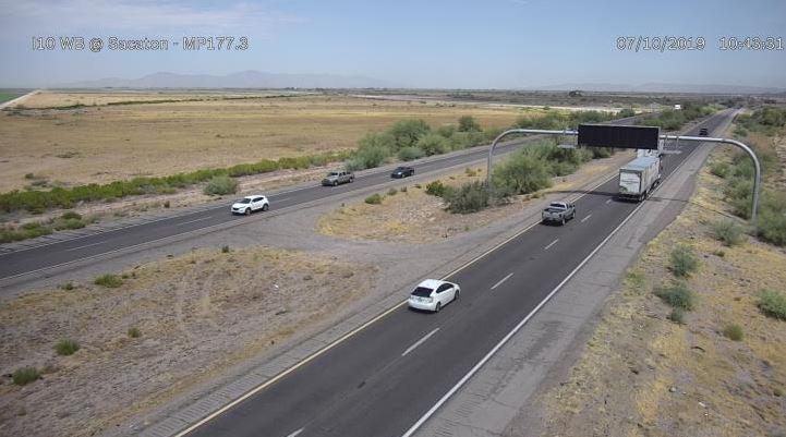 I-10 westbound Sacaton desert driving