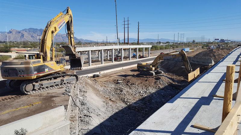 I-10 westbound bridge demolition - January 2018