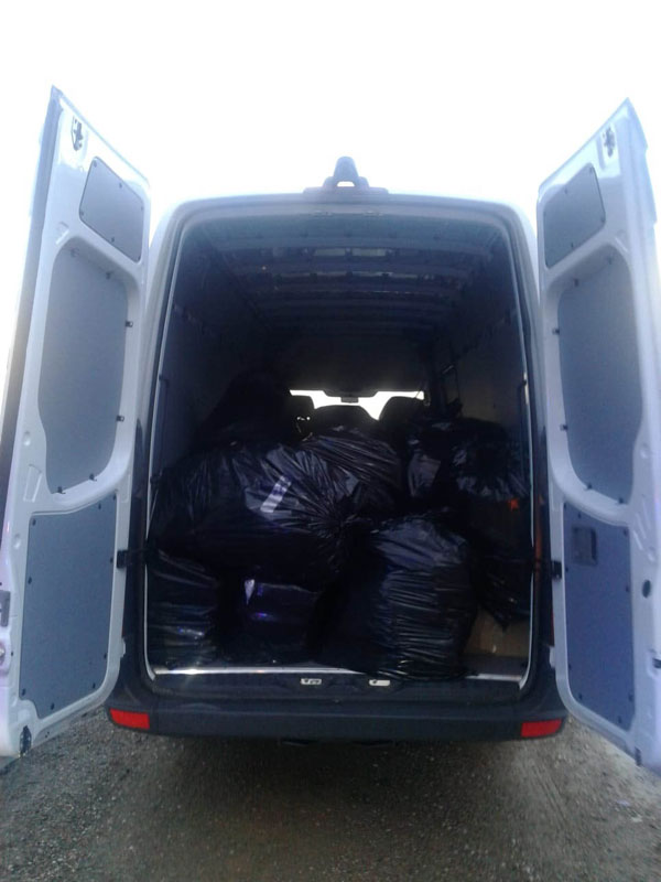 1,113 pounds of Marijuana in fake delivery van; seized by ADOT K-9 Unit along I-15