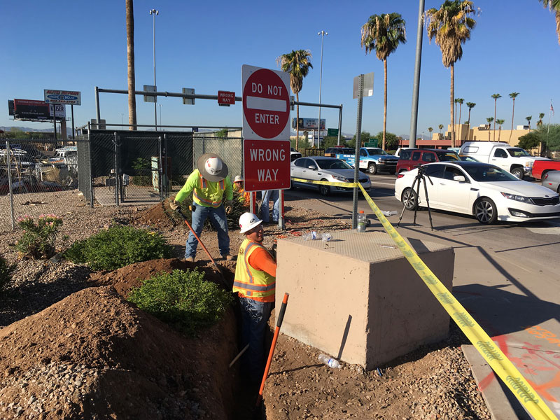 I-17 and Indian School - Crews doing initial trenchwork