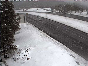 Snow at Riordan and I-40 in Near Flagstaff