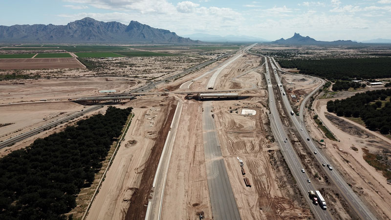 I-10 in Eloy, looking South - September 2018