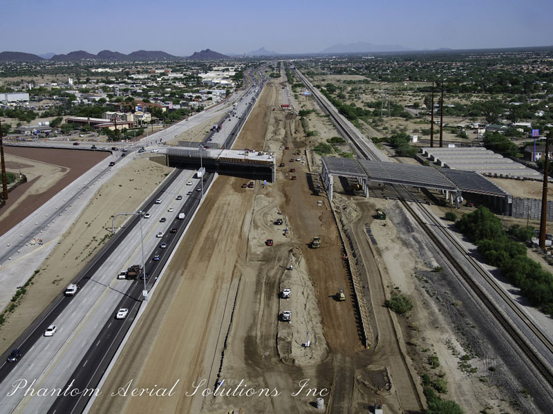 Aerial View of Ina Road Bridge over I-10