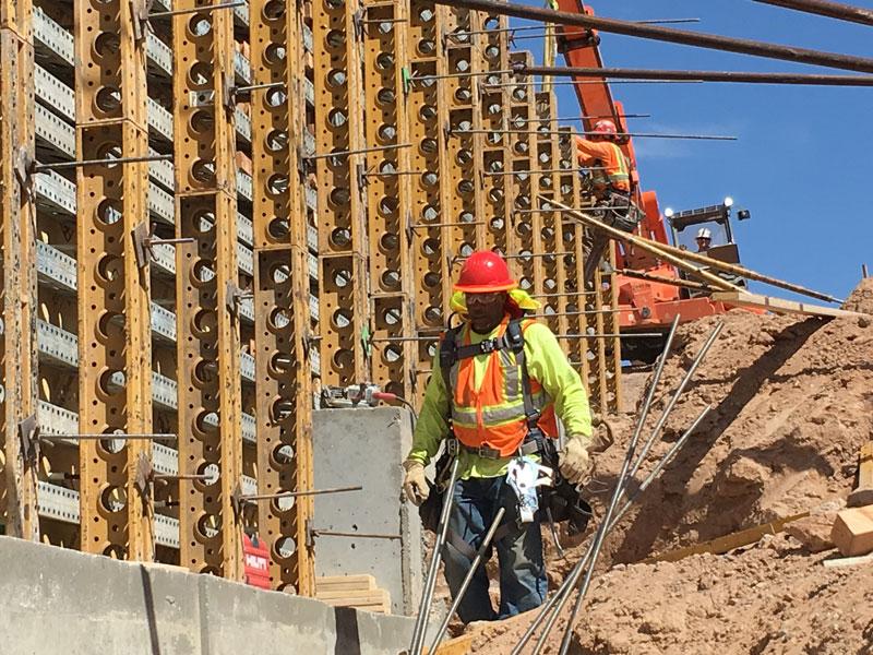 Worker on Jimmie Kerr Boulevard Bridge Project