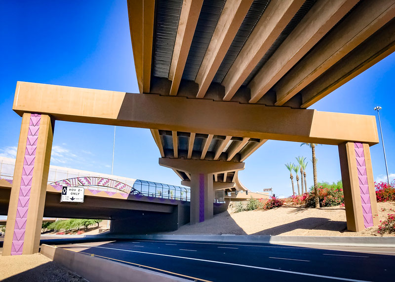Loop 202 Santan Freeway HOV ramp straddle bent