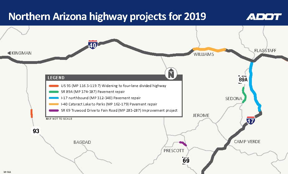 Busy year ahead for highway projects in northern Arizona | ADOT Interstate Highway Map Of Arizona on driving map of arizona, route 40 arizona, i-10 arizona, highway map of southern arizona, full map of arizona, map of south tucson arizona, freeway map of arizona, interstate 269 map, trail map of arizona, map of california and arizona, map of sun lakes arizona, old road maps arizona, fault line map of arizona, interstate 10 arizona, us road map arizona, map of interstate 40 arizona, state highway map of arizona, arizona state map of arizona, map of 202 loop arizona, interstates in arizona,