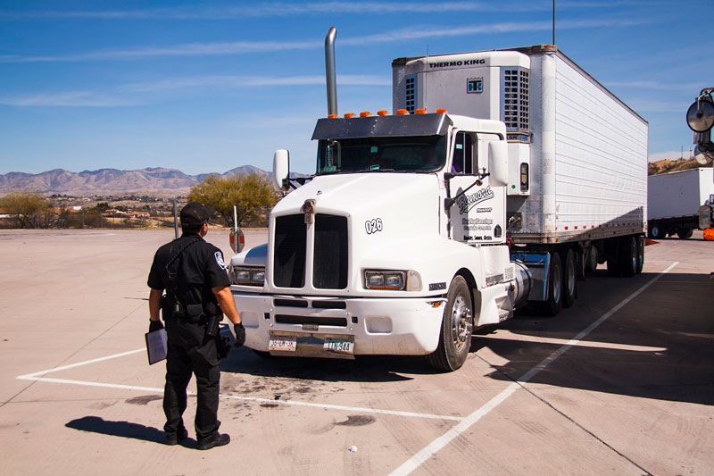 Truck Inspection at Mariposa Port of Entry
