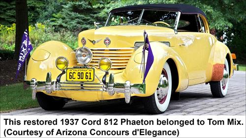 Restored 1927 Cord 812 Phaeton which belonged to Tom Mix.