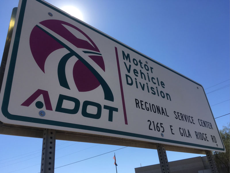 Motor Vehicle Division Regional Service Center Sign