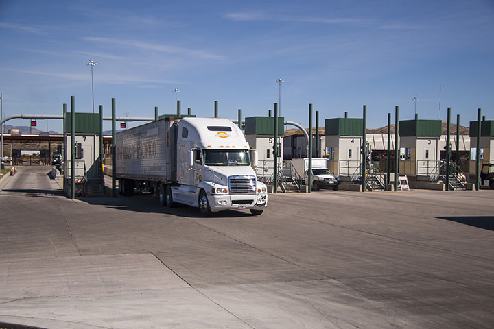 Trucks at the Nogales Port of Entry