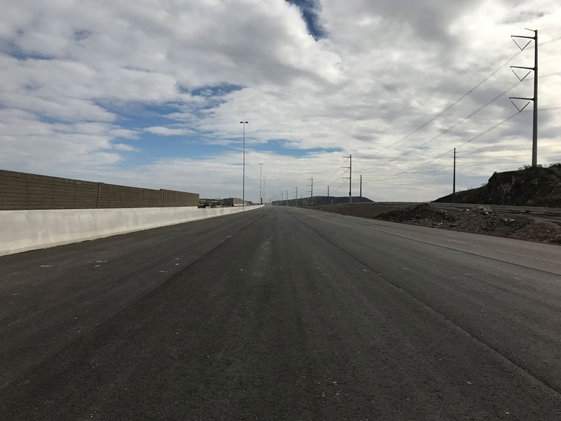 Pecos Mainline Freeway After Paving
