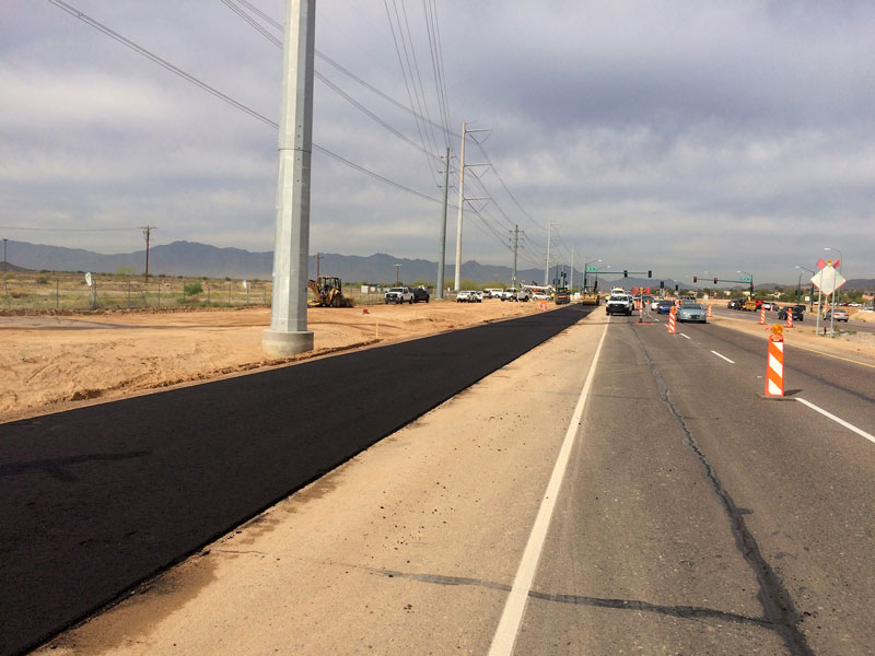 Paving Pecos Road