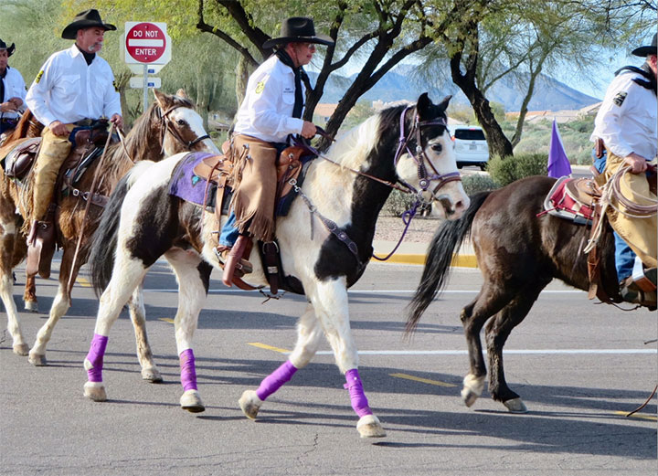 Pony Express Riders and Horses beginning their ride