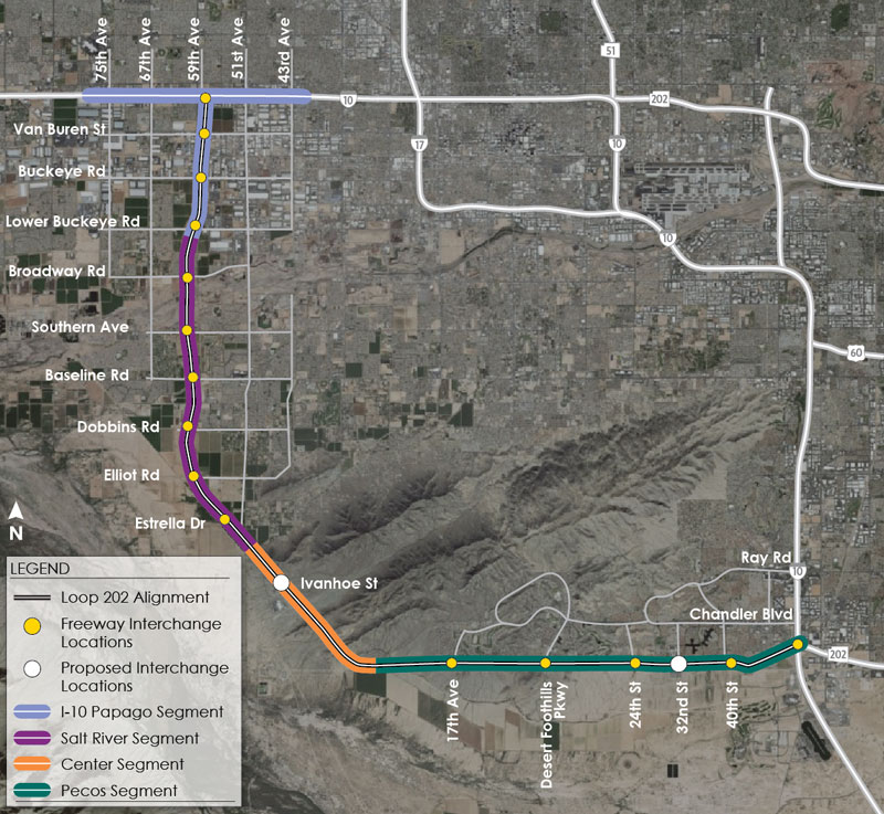 Proposed Traffic Interchange Locations Map - May 2, 2018