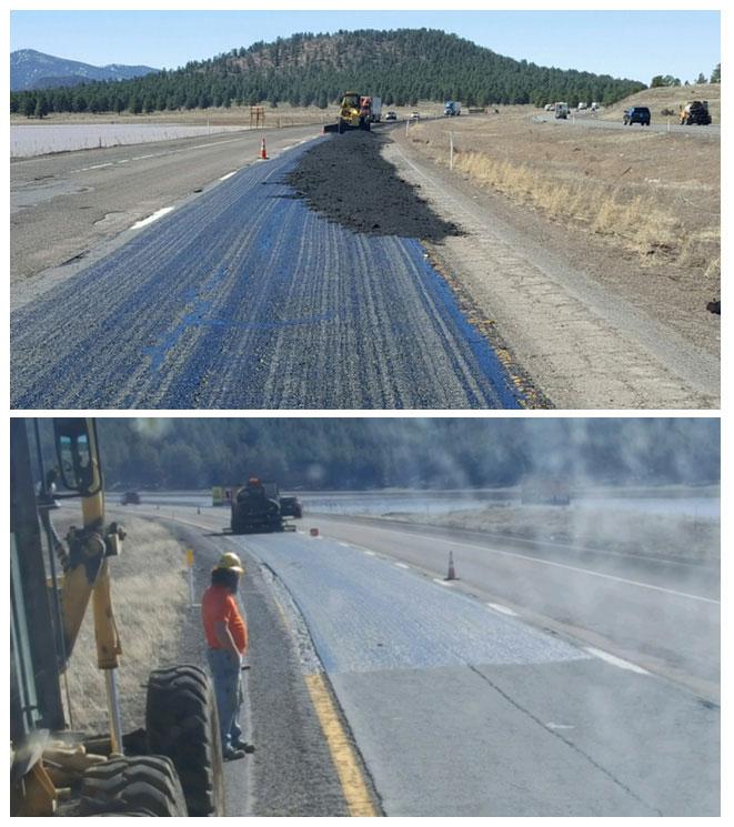 Road repairs in Northern Arizona