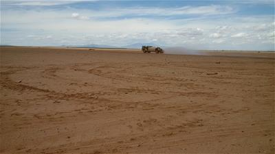 Water Truck in a field in San Simon