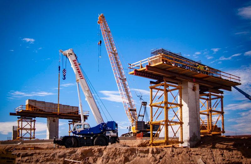 South Mountain Freeway ramp construction