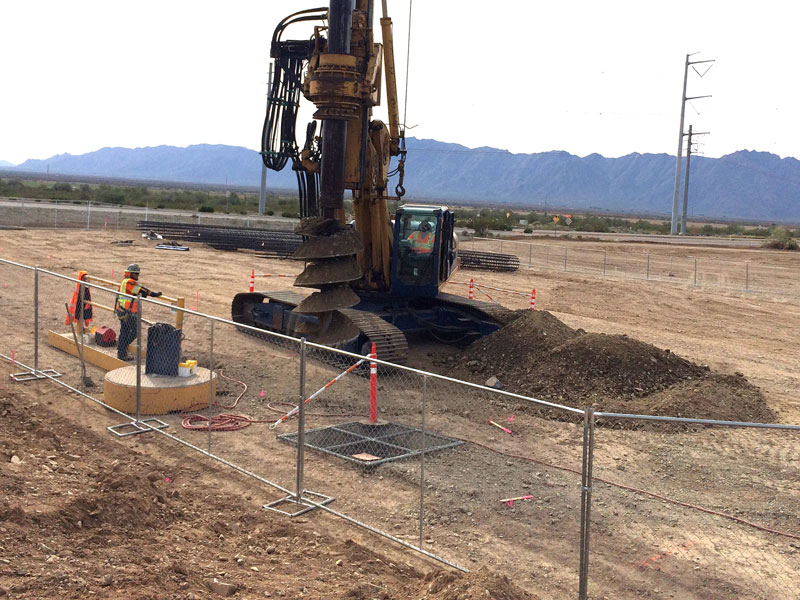 Bridge Drilling at South Mountain Freeway