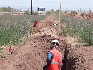 Field investigation at South Mountain Freeway site