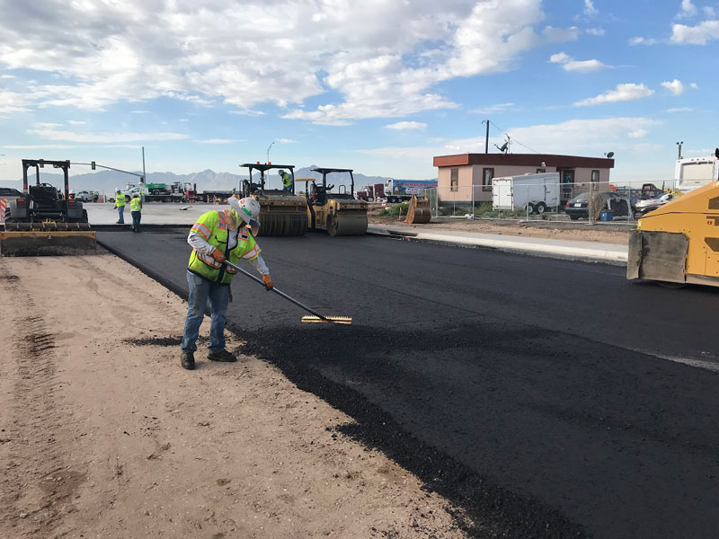 Workers Paving South Mountain Freeway Frontage Road