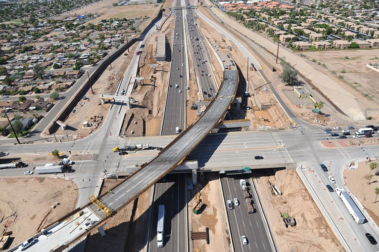 South Mountain Freeway / I-10 Interchange aerial photo - October 2018
