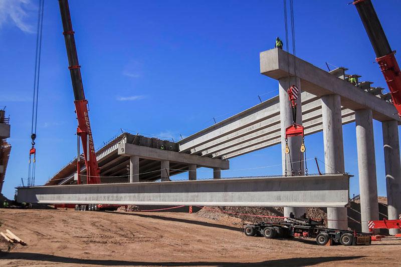 South Mountain Freeway Salt River Bridge Construction