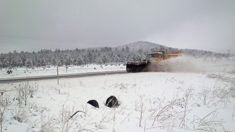 ADOT Snowplow in action