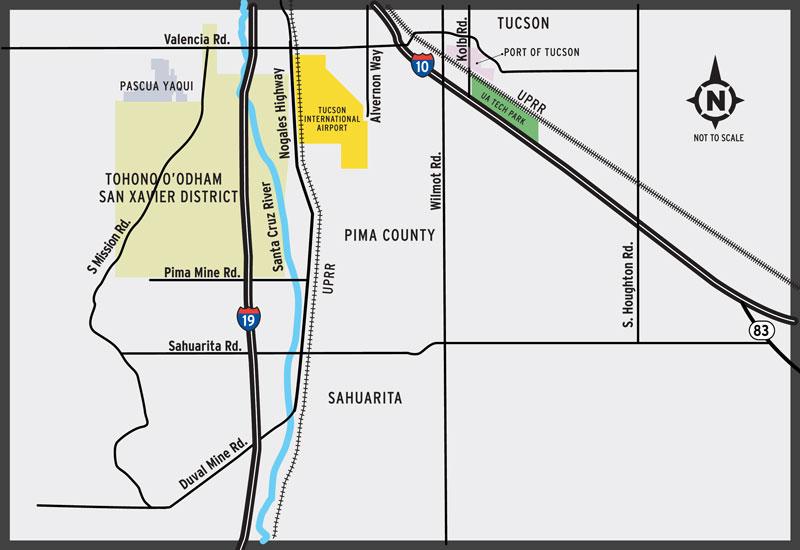 Proposed Sonoran Corridor Vicinity Map