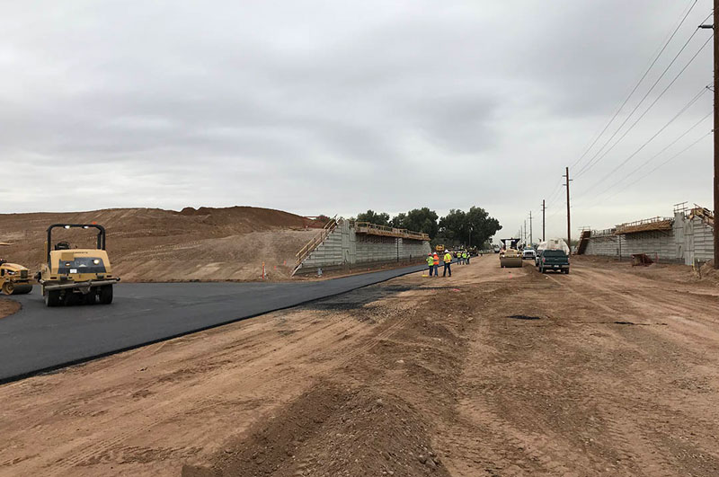 Road Construction on South Mountain Freeway - Southern Avenue