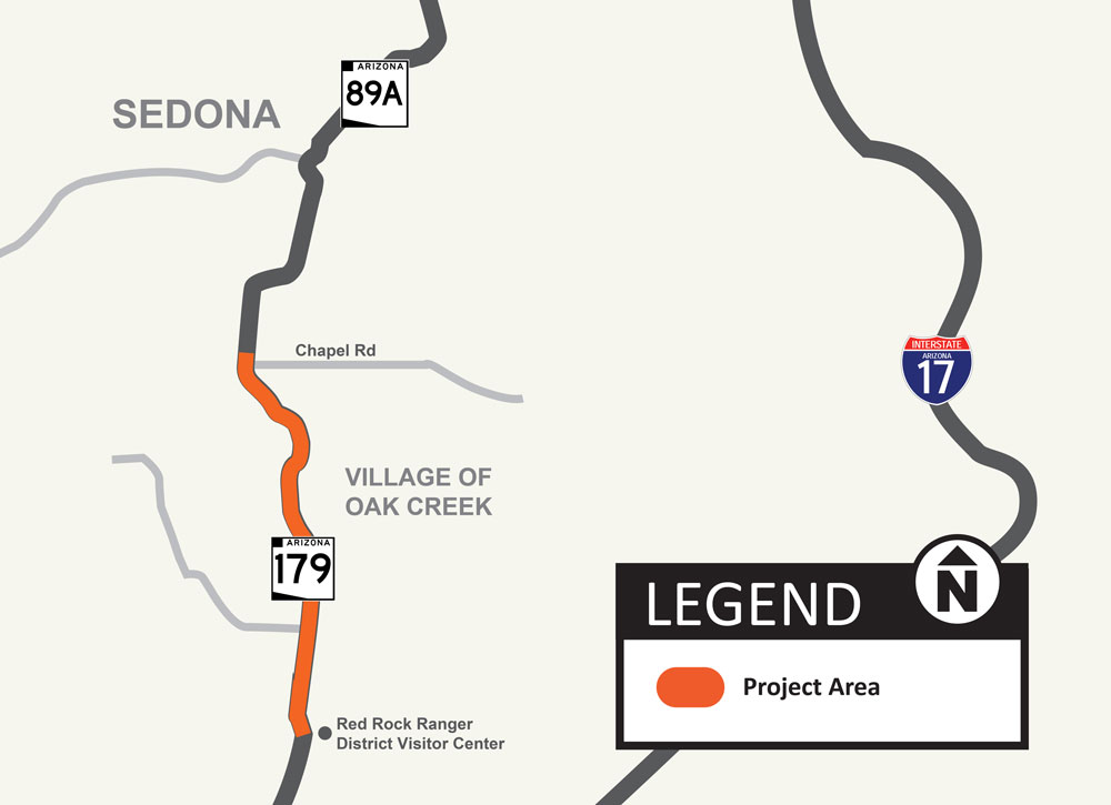 State Route 179 Project Map