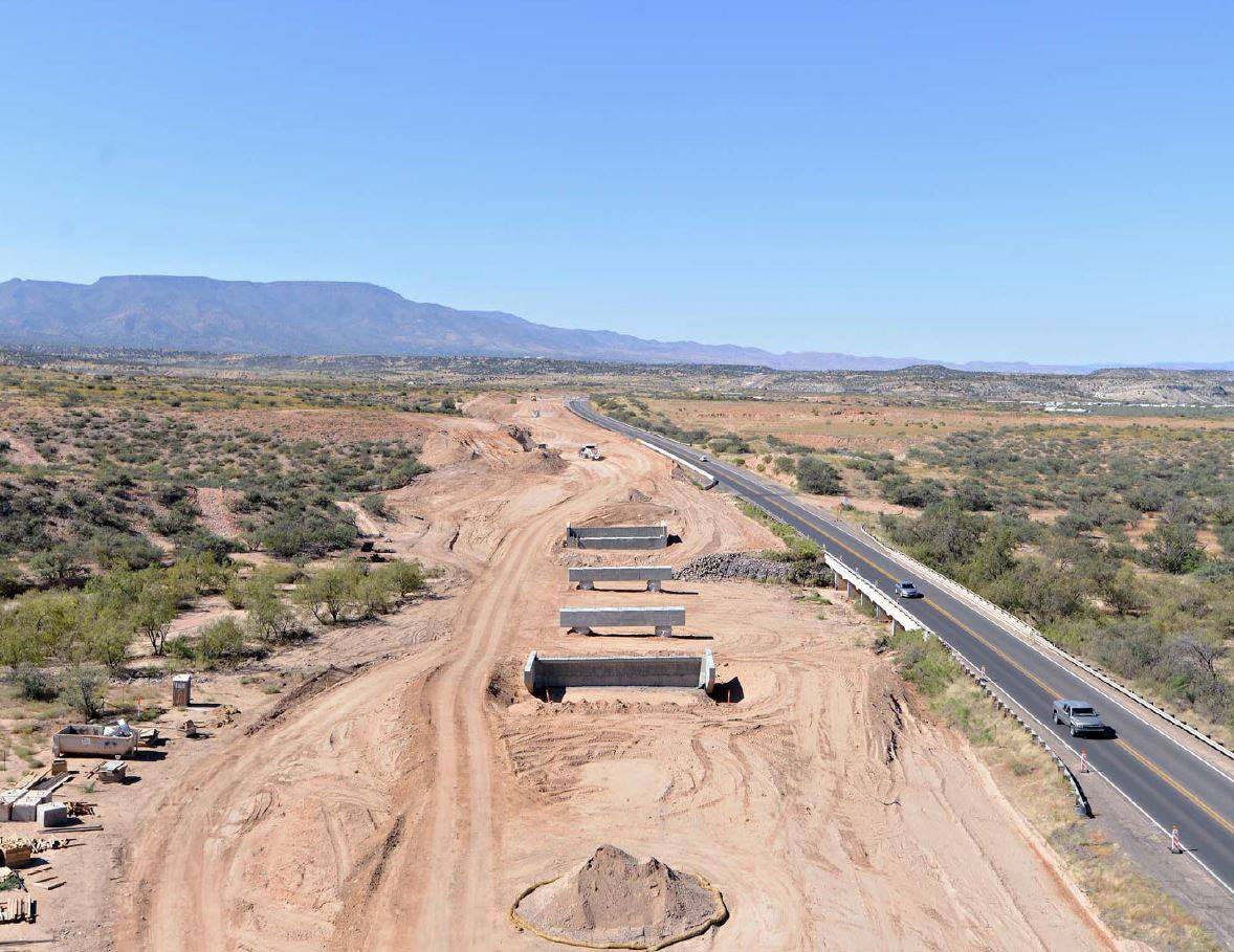 Widening Project site in Verde Valley, SR 260 west of I-17