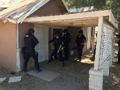 Maricopa police training in home soon to be demolished.