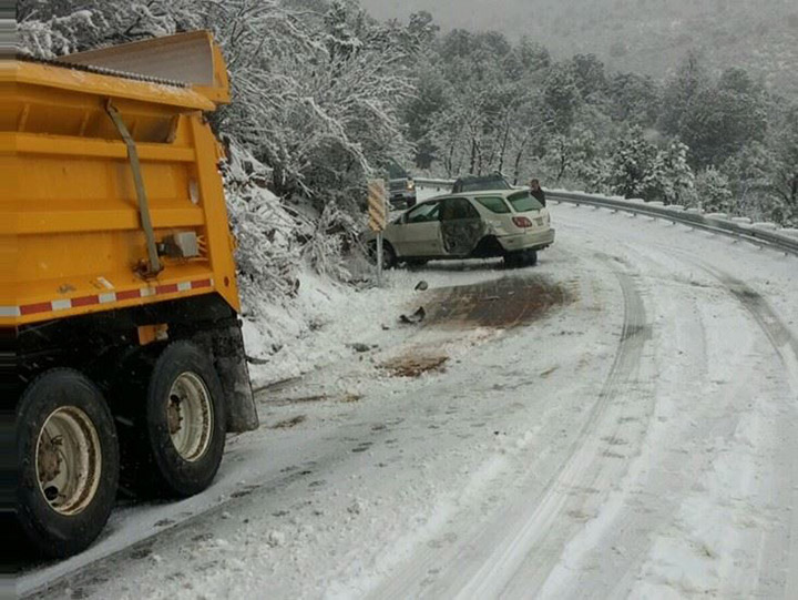 SUV hits snowplow on SR 89a during snowy conditions