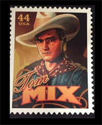 44 cent postage stamp featuring Tom Mix