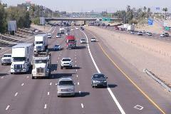 Traffic on Interstate 10