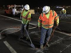 Crews installing traffic flow sensors on I-17