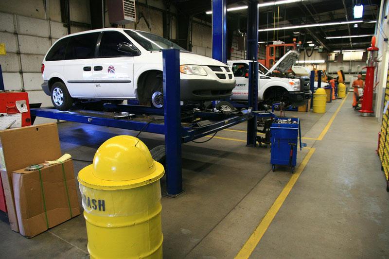 ADOT's vehicle repair shop in Tucson