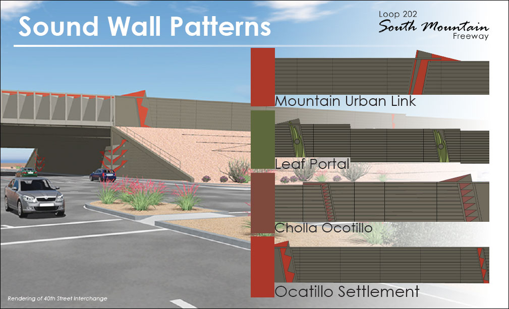 South Mountain Freeway Sound Wall Patterns