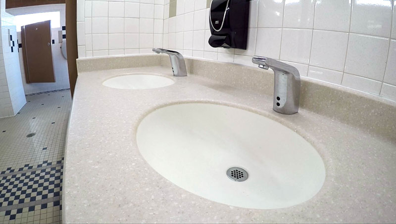 Water saving sinks at sacaton rest area
