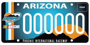 Phoenix International Raceway License Plate