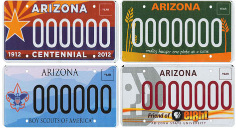 Four new licence plates, Centennial, Hunger Relief, Boy Scouts and PBS 8