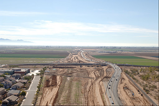 Loop 303 after the temporary bypass was built.