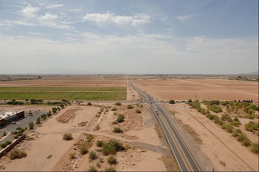 Loop 303 before the temporary bypass was built.