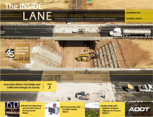 Cover of The Inside Lane November 2019 Issue